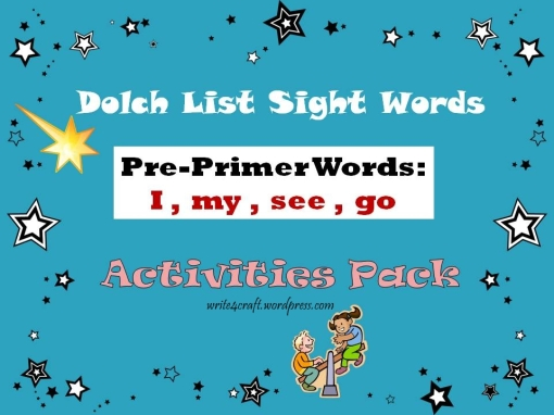 dolch pre primer sight words activities and readers